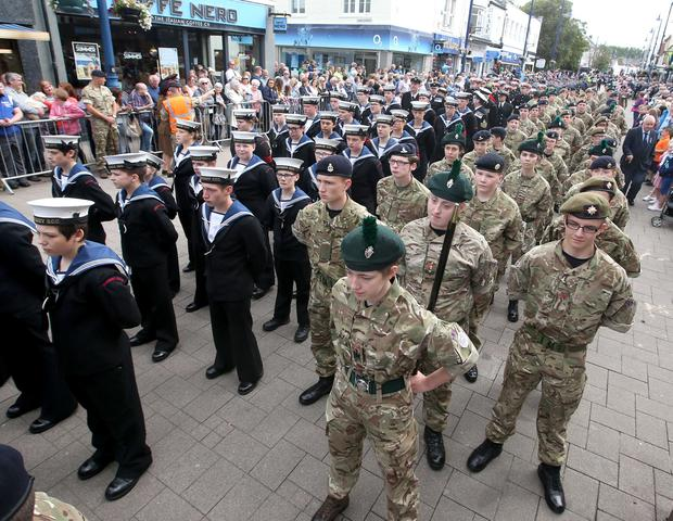Thousands descended on Coleraine for Armed Forces Day. Picture Kevin McAuley