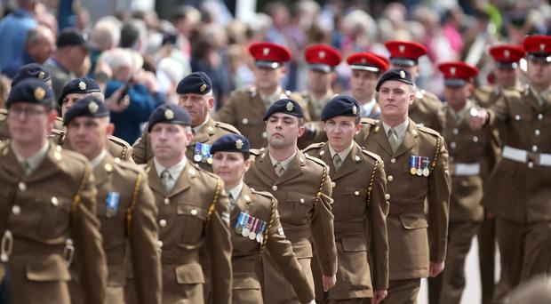 Thousands descended on Coleraine for Armed Forces Day. Picture Kevin McAuley.