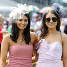 Press Eye - Belfast - Northern Ireland - 23rd June 2018 Magners Ulster Derby - Summer Festival Day 2 at Down Royal Racecourse. Vanessa Warren and Jessica Johnston pictured at Down Royal. Photo by Kelvin Boyes / Press Eye.