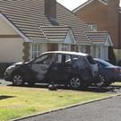 The car was destroyed in the alert. Pic: Leona O'Neill