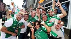 Fermanagh fans before the match in Clones. Pic: INPHO/Tommy Dickson