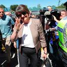 DUP Leader Arlene Foster at the Ulster final between Fermanagh and Donegal in Clones, Co Monaghan, Ireland. PRESS ASSOCIATION Photo. Picture date: Sunday June 24, 2018. Mrs Foster's attendance at a game synonymous with the nationalist tradition marks another symbolic milestone in cross-community engagement in the region. See PA story ULSTER Final. Photo credit should read: Niall Carson/PA Wire