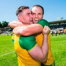 Glory boys: Donegal's Patrick McBrearty with Michael Murphy