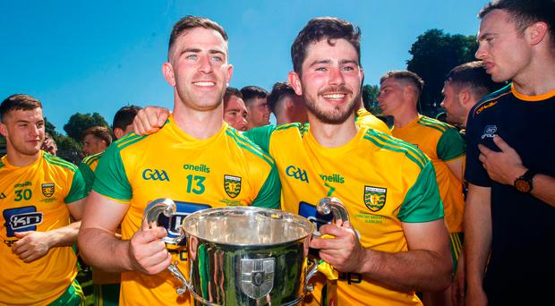 Glory and pain: Patrick McBrearty and Ryan McHugh claim the prize as Fermanagh players fight back tears