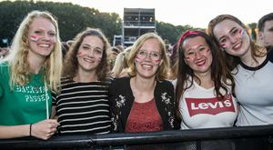 Dutch music fans out to see The Script for the sixth night of Belsonic. Sunday 24th June 2018. Picture by Liam McBurney/RAZORPIX