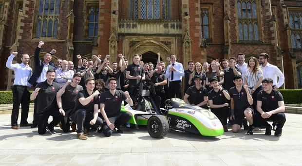 Queen's Formula Racing launched their latest design ahead of next month's Formula Student race.