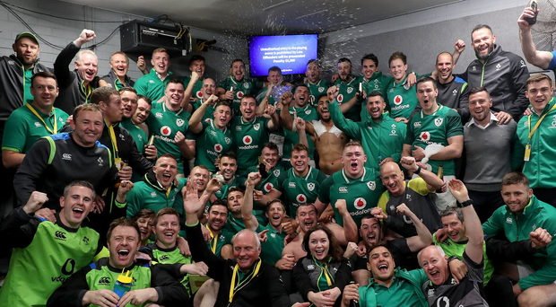 Squad goals: Ireland celebrate their series win Down Under after final Test joy against Australian