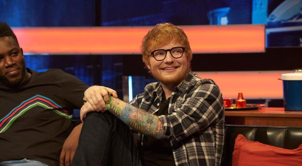 Ed Sheeran on The Big Narstie Show (Dave King/ Channel 4)
