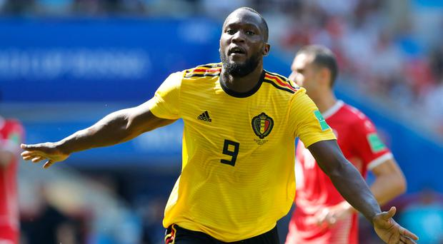 In recovery: Romelu Lukaku is still battling with an ankle issue
