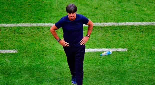 Going home: Joachim Low is unsure over his future