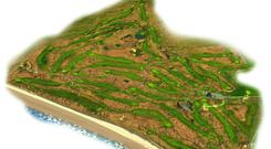 An overhead view of Ballyliffin Golf Club, featuring both the Old Links and the Irish Open host venue, the Glashedy Links