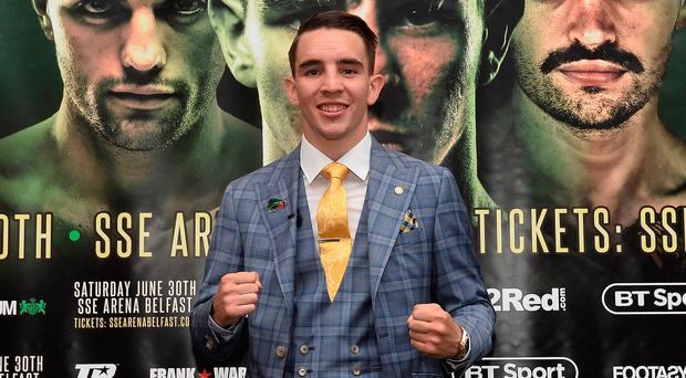Main attraction: Michael Conlan is enjoying the Belfast buzz but remains focused on his fight