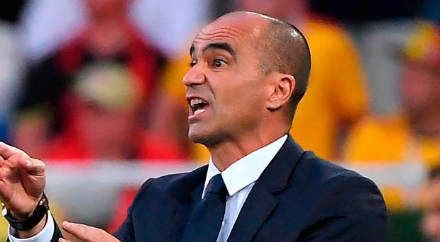 Marching on: Belgium boss Roberto Martinez