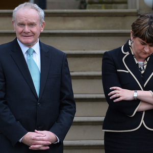 Arlene Foster and Martin McGuinness at Stormont Castle