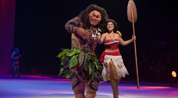 Moana, Maui and friends will make their ice debut.