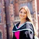 Graduating from Queen's University Belfast today with a First Class Honours (BSc) Psychology (Intercalated), from the School of Psychology is Rebecca Colquhoun from Belfast.