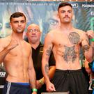 Huge test: Jack Catterall (left) and Tyrone McKenna will clash on the undercard tomorrow night