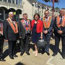 The leader of the Democratic Unionist Party attends the Orange Order's annual Battle of the Boyne parade in Fife, Scotland. Photo by Press Eye.