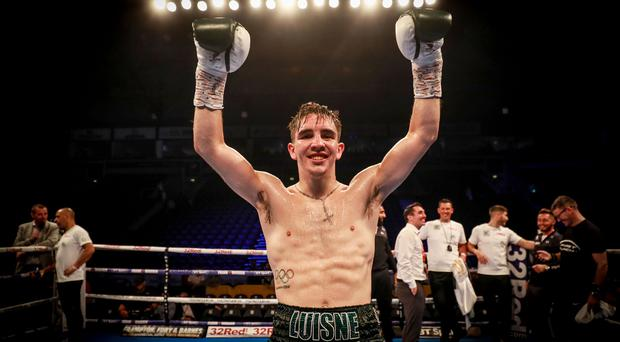 MICHAEL CONLAN v ADEILSON DOS SANTOS during the The Homecoming bill at the SSE Arena in Belfast on June 30th 2018 (Photo by Kevin Scott for Belfast Telegraph)