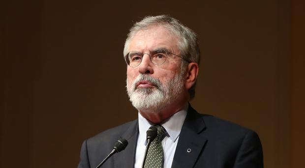 Gerry Adams attended the commemoration of the 30th anniversary of IRA man Seamus Woods (Niall Carson/PA)