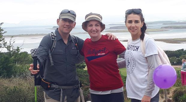 Two mothers campaigning for medicinal cannabis to be legalised in Ireland have climbed, Croagh Patrick in Co Mayo (PA)