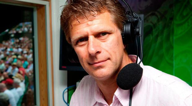 All set: former tennis champion, broadcaster and commentator Andrew Castle is back for the world-famous tournament