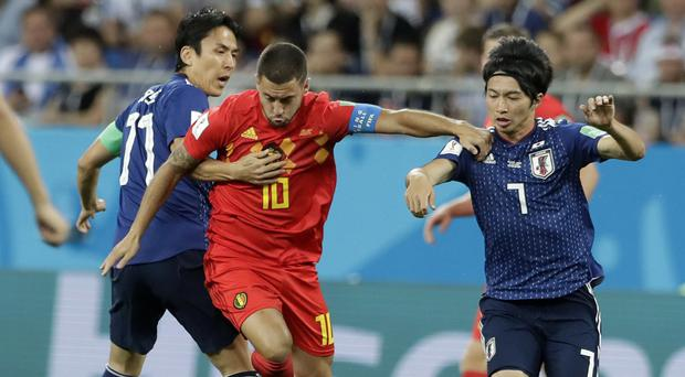 Belgian came from 2-0 down to beat Japan 3-2 in a thrilling last-16 clash (Petr David Josek/AP)