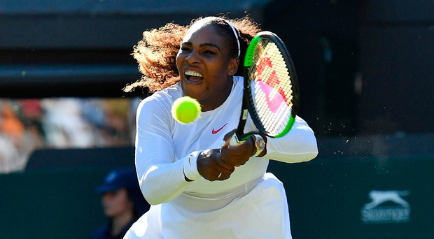 Top class: Serena Williams battles to victory over Arantxa Rus