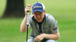 Late call-up: Gavin Moynihan only received the go-ahead to participate in the Irish Open last Friday