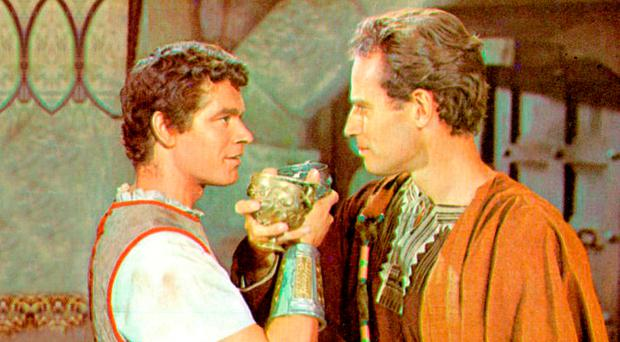NI actor Stephen Boyd in film Ben-Hur with Charlton Heston