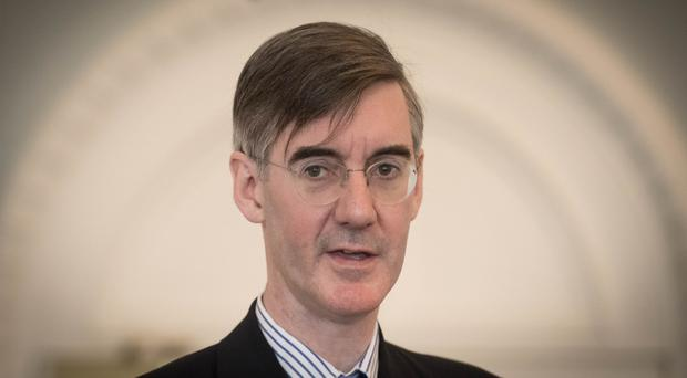 Jacob Rees-Mogg is at the centre of a Tory row over Brexit (Stefan Rousseau/PA)