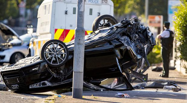 Emergency services at the scene of a major RTC on the Crumlin Road on July 3rd 2018 (Photo by Kevin Scott for Belfast Telegraph)