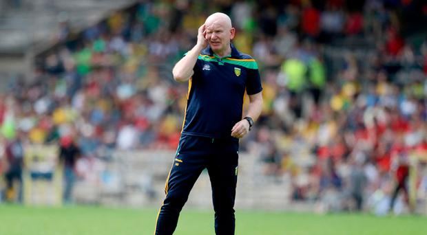 Taking stand: Donegal boss Declan Bonner