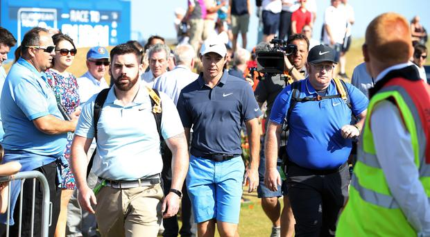 Press Eye - Belfast - Northern Ireland - 4th July 2018 Dubai Duty Free Irish Open hosted by the Rory Foundation at Ballyliffin Golf Club, Co Donegal, Ireland. Rory McIlroy practices before the Pro-Am at Ballyliffin. Photo by Kelvin Boyes / Press Eye.