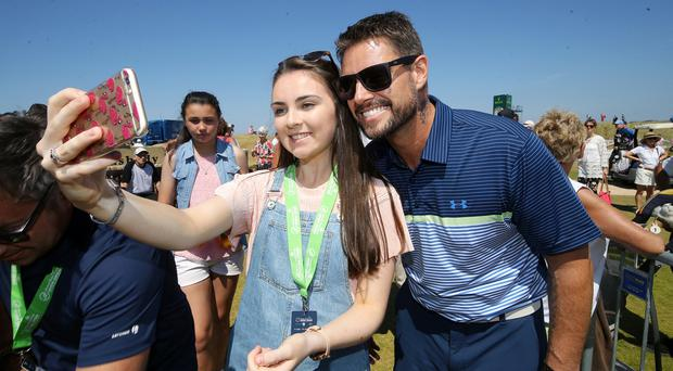 Press Eye - Belfast - Northern Ireland - 4th July 2018 Dubai Duty Free Irish Open hosted by the Rory Foundation at Ballyliffin Golf Club, Co Donegal, Ireland. Keith Duffy at the Pro-Am at Ballyliffin. Photo by Kelvin Boyes / Press Eye.