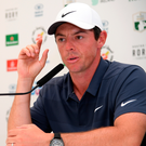 Ready for action: Rory McIlroy