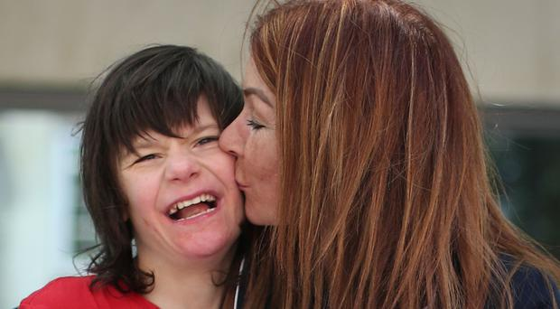 Billy Caldwell with his mother Charlotte (Yui Mok/PA)