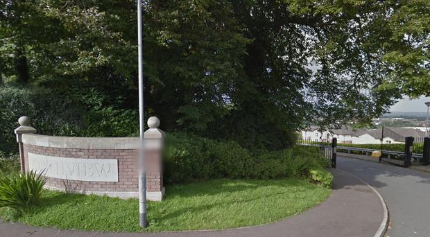 A device was discovered near apartment blocks at Northview in north Belfast. Credit: Google Images