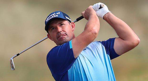 Ireland's Padraig Harrington enjoying a promising opening round at a Ballyliffin course that may well suit his game.