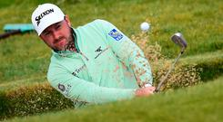 Graeme McDowell had a topsy-turvy round on Thursday at the Irish Open.
