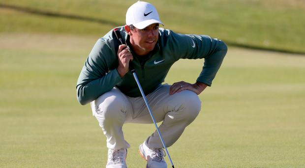 Rory McIlroy is keen to remember he's 'right in' the Irish Open chase despite a disappointing day on the greens.