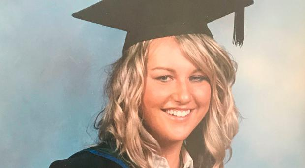 Smiles ahead: Eve Blair after graduating