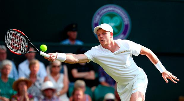 Full stretch: Kyle Edmund makes a return against Bradley Klahn