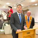 Changing times: Taoiseach Leo Varadkar with the Grand Orange Lodge of Ireland Grand Master Edward Stevenson at the Orange Order headquarters and museum