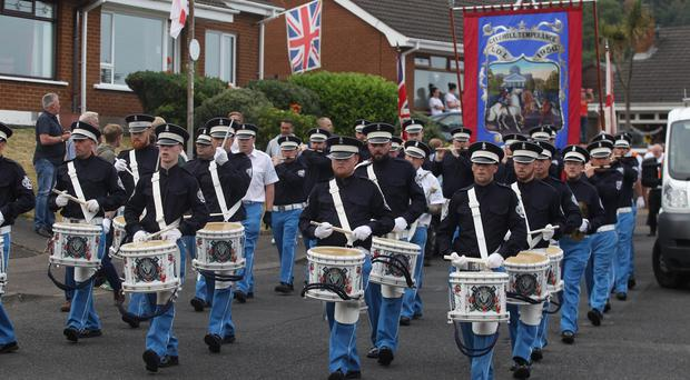 The Orange Order parade through Kilcoole Park and Kilcoole Gardens. Pic Pacemaker