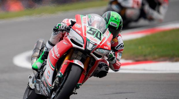 Familiar faces: Ulster ace Eugene Laverty was second during World Superbike practice in Missano, having got the better of compatriot Jonathan Rea