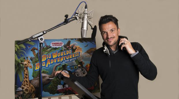 Peter Andre voices race car Ace in Thomas and Friends: Big World! Big Adventures! (Hit Entertainment/PA)