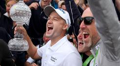 Huge win: Russell Knox celebrates his Irish Open victory