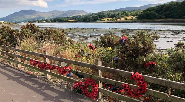 Police say they are treating damage caused to a memorial at Narrow Water in Warrenpoint, Co Down as a hate crime / Credit: Pacemaker
