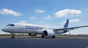 Airbus has launched the C Series jet renaming it the A220. Pic: Ryan McAleer, Belfast Telegraph Business Correspondent, in Toulouse